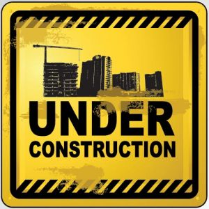 Under construction vector sign