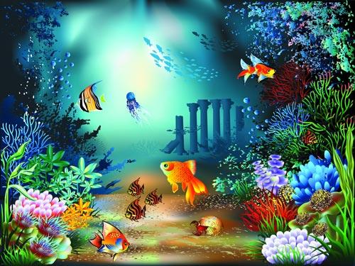 Life Underwater Drawings