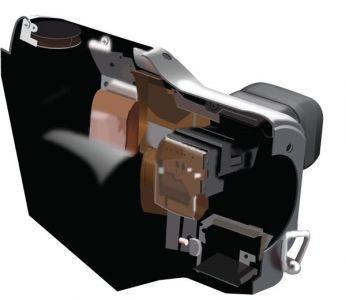 Unfolded photo camera vector