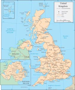 United Kingdom vector map