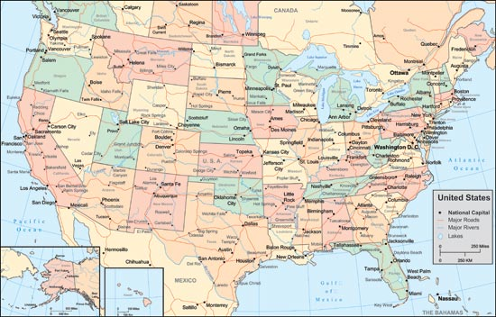 States Vector Map - Map of united states
