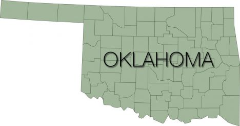 oklahoma region with counties vector