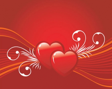 Valentine heart shape