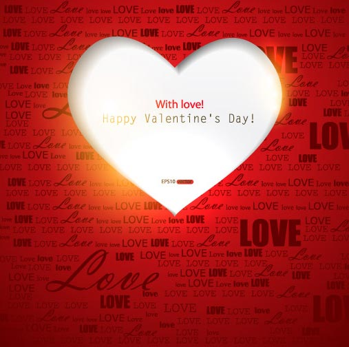 Valentines Day Vector Collage