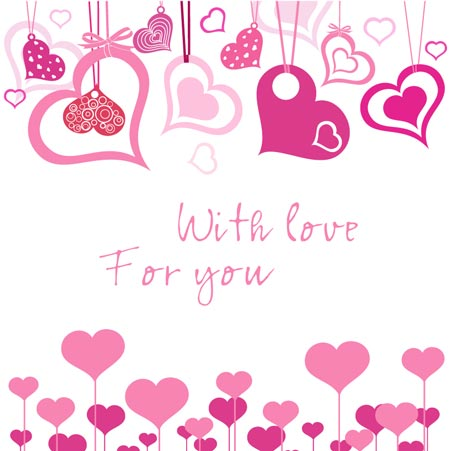Valentine S Day With Hearts And Giftboxes Vectors