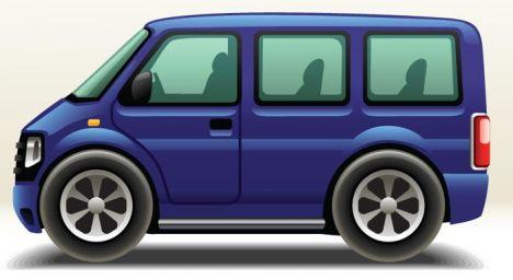Variety of big and small cars vectors