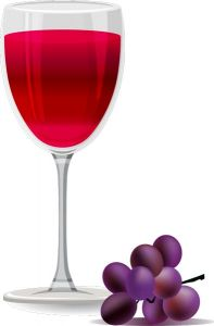 Grapes flavor of juice vector