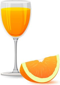 Orange flavor of juice vector