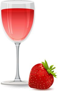 Strawberry flavor of juice vector