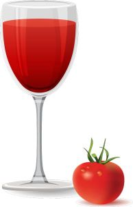 Tomato flavor of juice vector