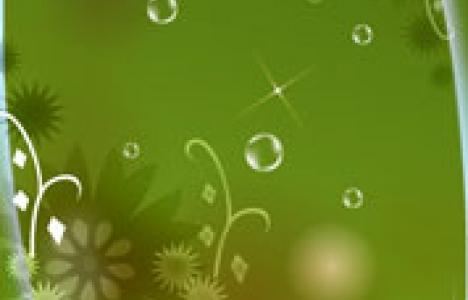 Flower banner design