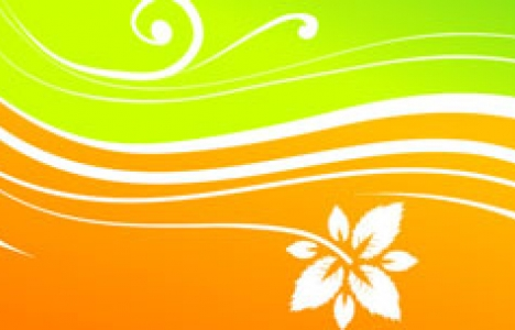 Banners with flower designs