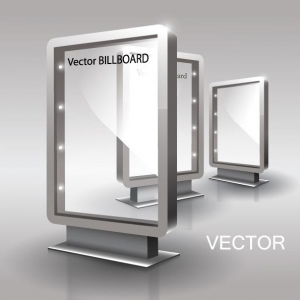 Vector billboard template