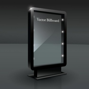 Vector billboard layout
