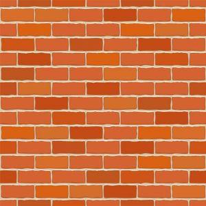 Seamless vector brick wall.