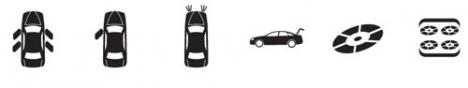Car icons design
