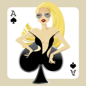 Playing card girl template