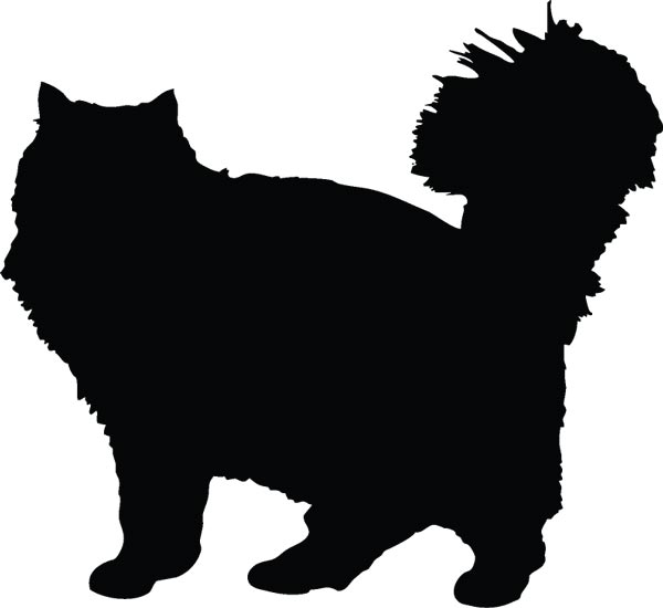 cats silhouette shapes