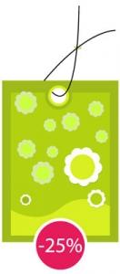 Vector discount label