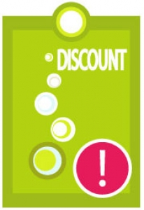 Vector discount label