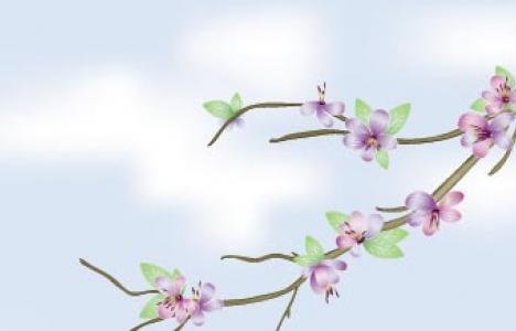 Floral banner template