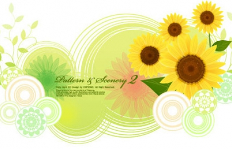 Vector with floral design
