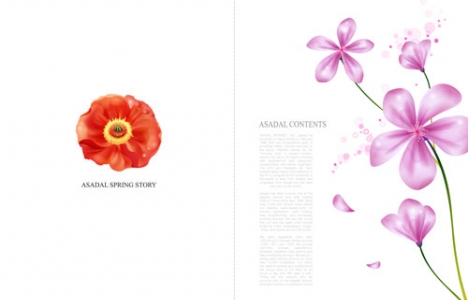 Flower postcards design