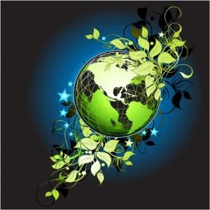Vector globe template