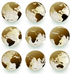 Vector globe background