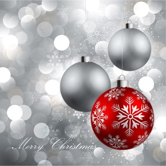 Christmas vector globe postcard