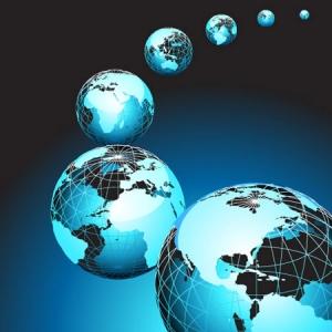 Vector globe model