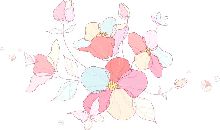Vector hand drawn sketches of spring flowers mightylinksfo Gallery