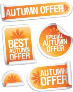 Vector stickers for autumn collection