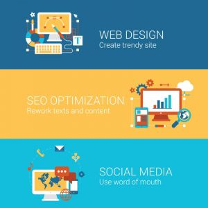 Web design and social media vector banners