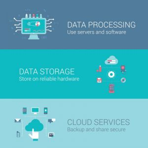 Data storage and processing vector banners