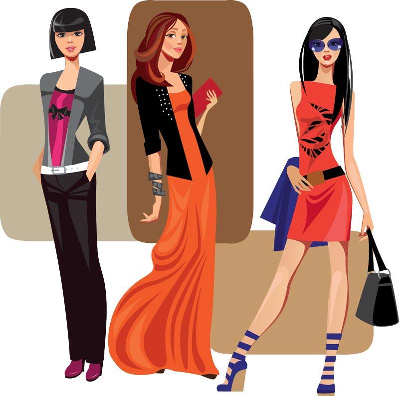 Girls Fashion Styles: Fashion Girls Vector