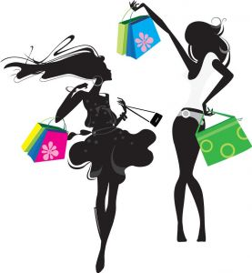 Shopping modern fashion gilrls