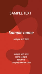 Vertical business cards vectors