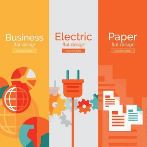 Business flat banners vector