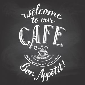 Welcome to our cafe chalkboard printable,Welcome to our cafe chalkboard printable