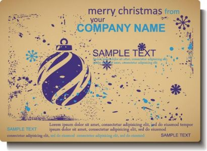 Vintage Christmas vector label design