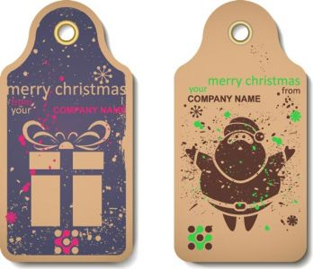 Vintage Christmas vector label
