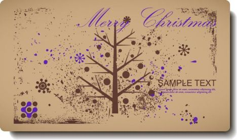 Vintage Christmas vector label design