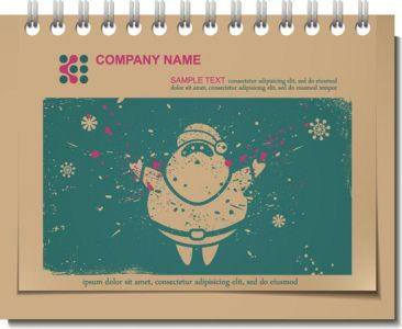 Vintage Christmas vector label template