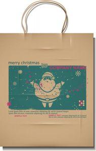 Vintage Christmas vector label