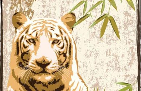 Vintage tiger poster