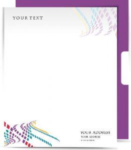 Violet corporate identity vector