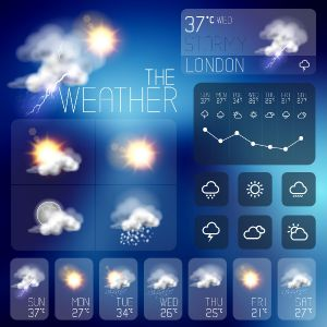 Weather icons for smartfone applications