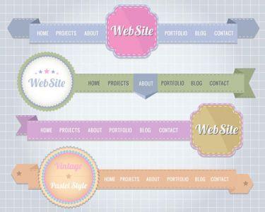 Website header design vector