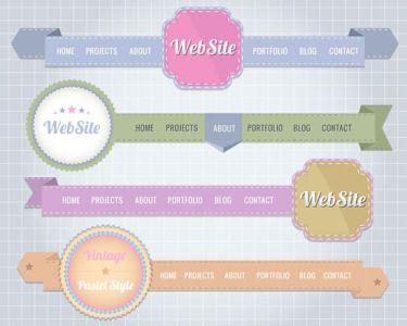 Website header design vector
